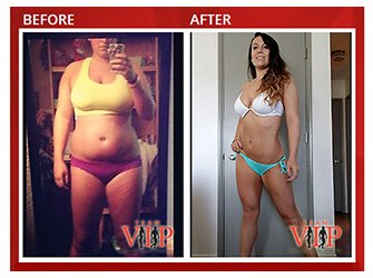Before and after testimonial photo